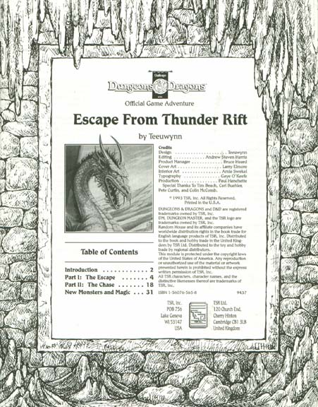 Cover of Escape from Thunder Rift