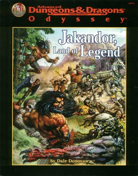 Cover of Jakandor, Land of Legend